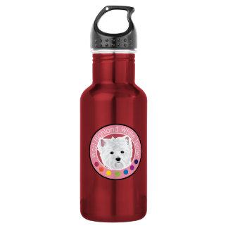 Dog West highland white terrier 18oz Water Bottle