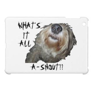"""Dog """"WHAT IT ALL A-SNOUT??"""" iPad Case"""