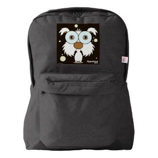 Dog(White) Backpack, Black Backpack