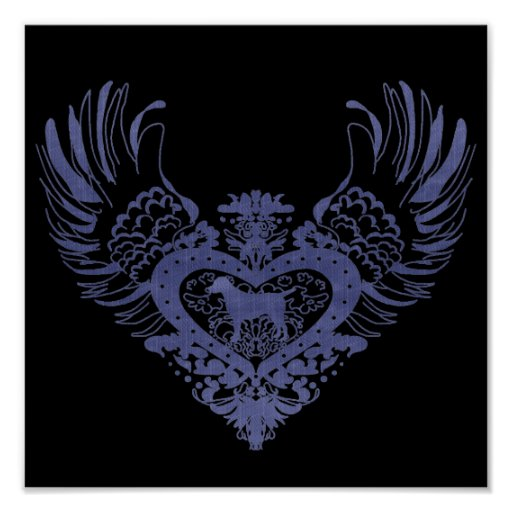 Dog Winged Heart Print