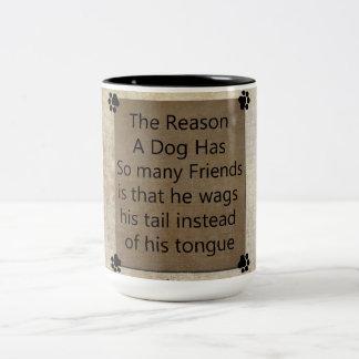 Dog Wisdom Two-Tone Coffee Mug
