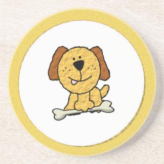 Dog with a Bone Sandstone Coaster