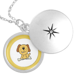 Dog with a Bone Silver Plated Necklace