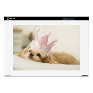 """Dog with a crown 15"""" laptop decal"""