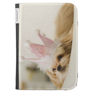 Dog with a crown kindle keyboard cases