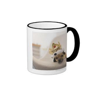 Dog with a crown mug