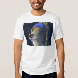 Dog with a pearl earring shirt