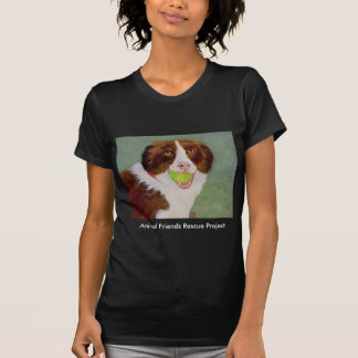 Dog With Ball Dk Woman's Tee