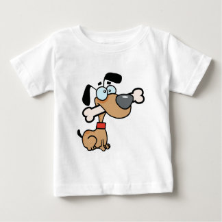 Dog With Big Bone In Mouth Baby T-Shirt