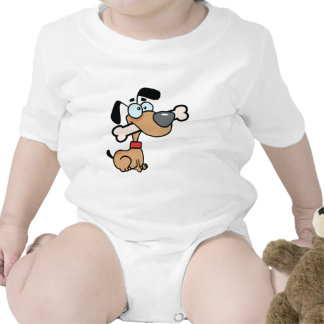 Dog With Big Bone In Mouth Baby Bodysuit