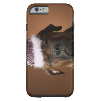 Dog with birthday crown on head tough iPhone 6 case