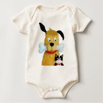 Dog with Bone & Cat baby Toddler Baby Bodysuit