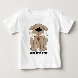 Dog With Bone (Customizable) Baby T-Shirt