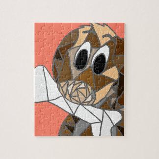 dog with bone jigsaw puzzle