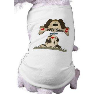 Dog with Bone Personalized Dog T-shirt petshirt