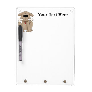 Dog With Bone (Personalized) Dry-Erase Board