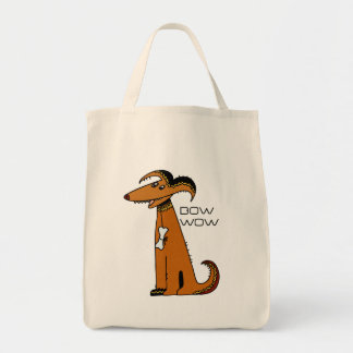DOG WITH BONE  TOTE BAG