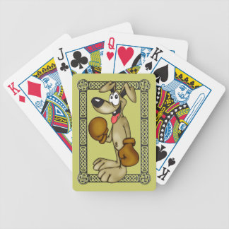 Dog With Boxing Gloves Playing Cards