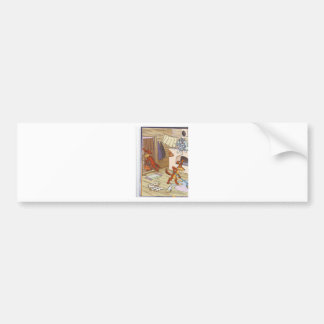 dog with cat fany pic bumper sticker