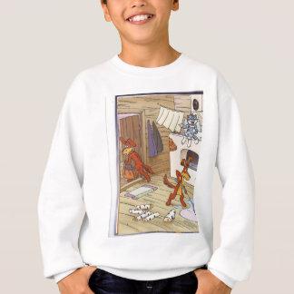 dog with cat fany pic sweatshirt