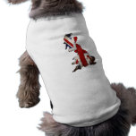 Dog with Dirty Vintage Great Britain Flag on Map Doggie T-shirt