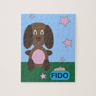 Dog With Dog Food Puzzle