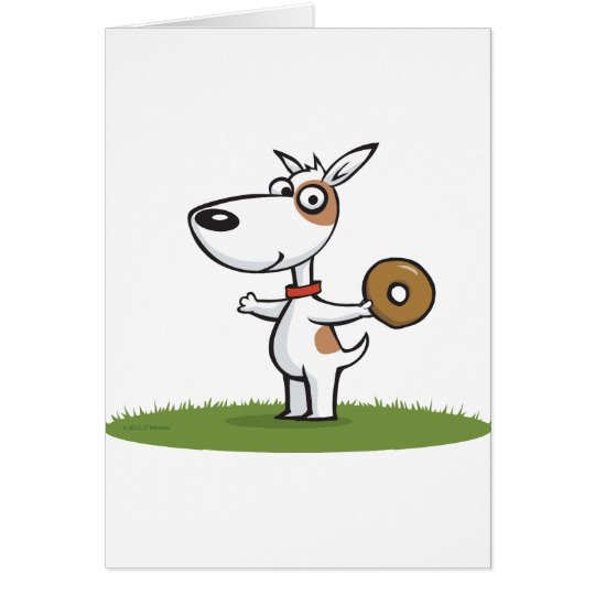 Dog with Donut Card
