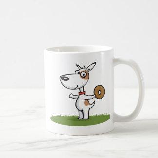 Dog with Donut Coffee Mug