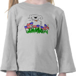 Dog with Flags July 4th Gifts T-shirt
