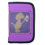 dog with flowers planner/ Rickshaw Folio