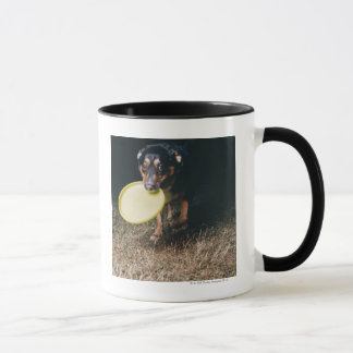 Dog With Frisbee in Mouth Mug