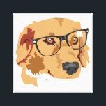 """Dog With Glasses Canvas Print<br><div class=""""desc"""">This design was originally made for a class project,  based off of an old picture I took of my dog.</div>"""