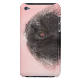 Dog with hair in front of face and tongue out barely there iPod case