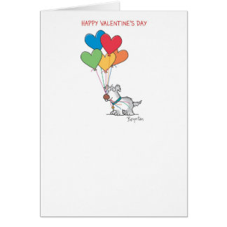 DOG WITH HEART BALLOONS Valentines by Boynton Card