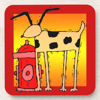 Dog with Hydrant  Design Coasters