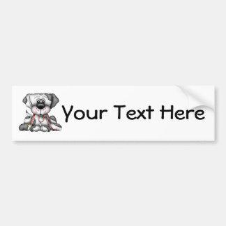 Dog With Leash (Customizable) Car Bumper Sticker