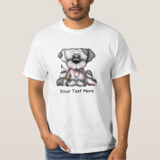 Dog With Leash (Customizable) T-Shirt