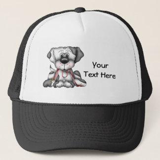 Dog With Leash (Customizable) Trucker Hat