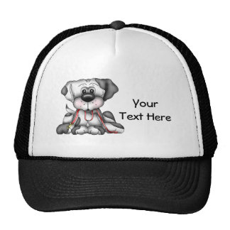 Dog With Leash (Customizable) Trucker Hat