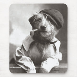 Dog With Pipe and Hat Mouse Pad