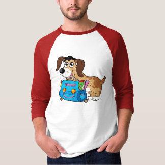 Dog with school bag T-Shirt