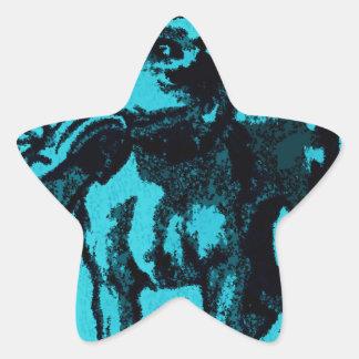 Dog with Shoe Star Sticker