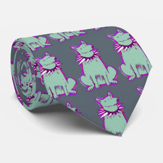 dog with spike collar illustrations tie