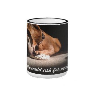 Dog with Treat Ringer Coffee Mug