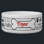 "Dog Word Art Personalized Pet Bowl<br><div class=""desc"">What a good dog you have! Reward him with a personalized dog bowl filled with happy pet thoughts.  *This is specifically made for male dogs,  says &quot;good boy&quot;. 