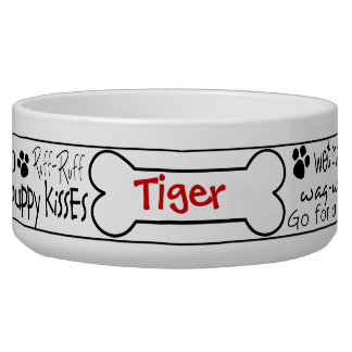 Dog Word Art Personalized Pet Bowl