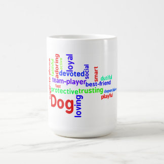 Dog word cloud mug with border