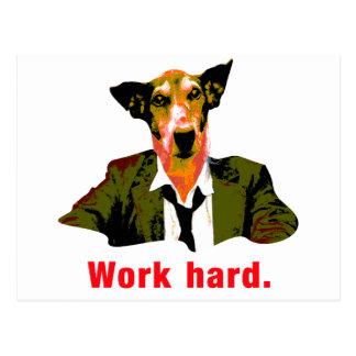 Dog worker tarjeta postal