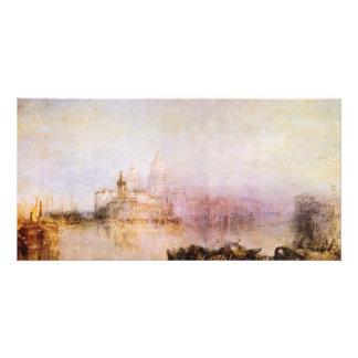 Dogana y saludo de Santa María Della, Venecia del  Tarjetas Fotográficas Personalizadas