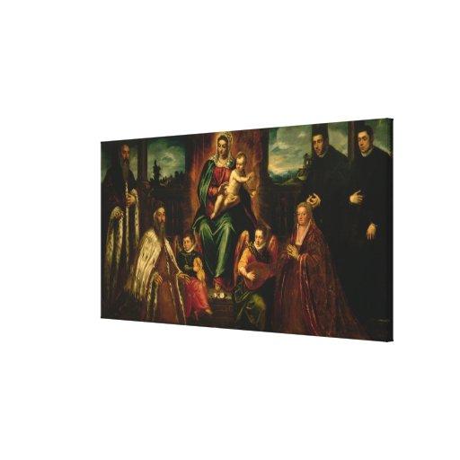 Doge Alvise Mocenigo and Family Canvas Print